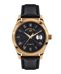 Empereur gold-tone & leather watch