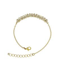 Gold-tone Swarovski crystal bracelet