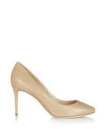Esme 85 nude leather heels