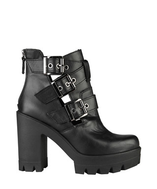 ANA LUBLIN. Gunilla black eco-leather biker boots 5750fa6781