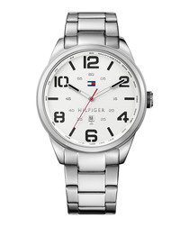 Conner silver-tone steel watch