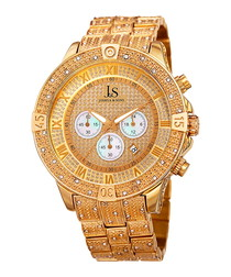 Gold-tone crystal watch