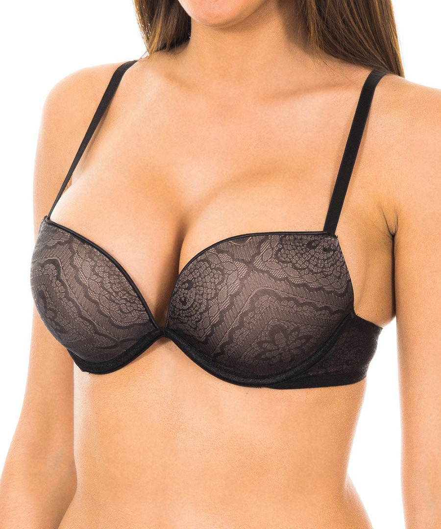Black metallic push-up bra Sale - wonderbra