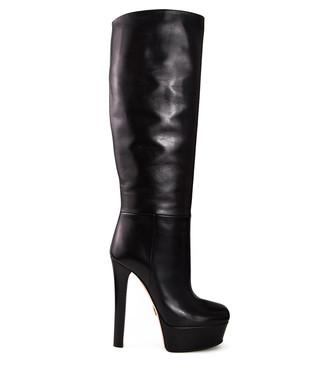 aaf8b63a33a Gucci. Women s black leather platform boots
