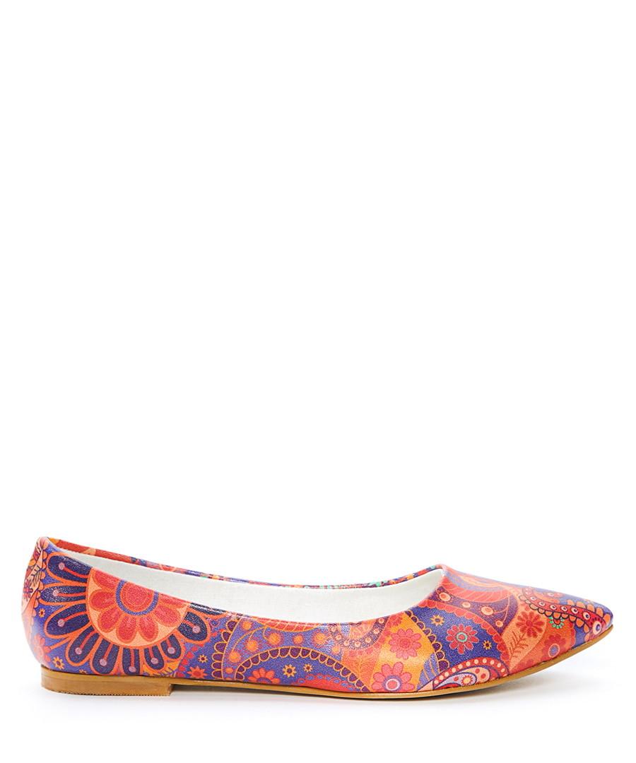 Multi-coloured pointed toe ballerinas Sale - STREETFLY