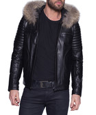 Heaven black leather jacket