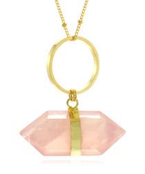 Circle Of Love rose quartz necklace