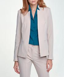 Beige tailored blazer