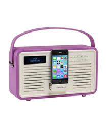 Colourgen purple 30pin dock & DAB radio