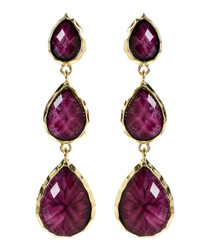 East Hampton purple drop earrings