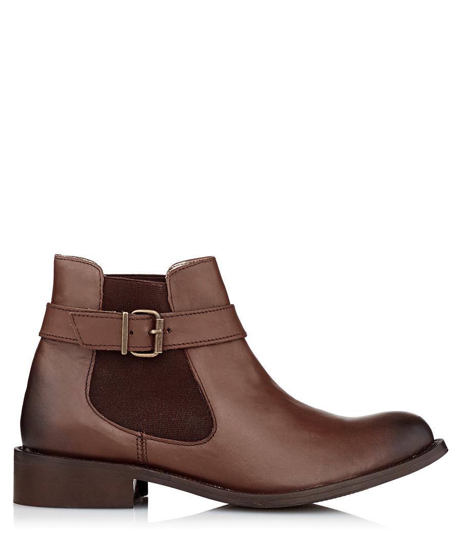 98de4ee78d8 Discount Women's brown leather buckle boots | SECRETSALES