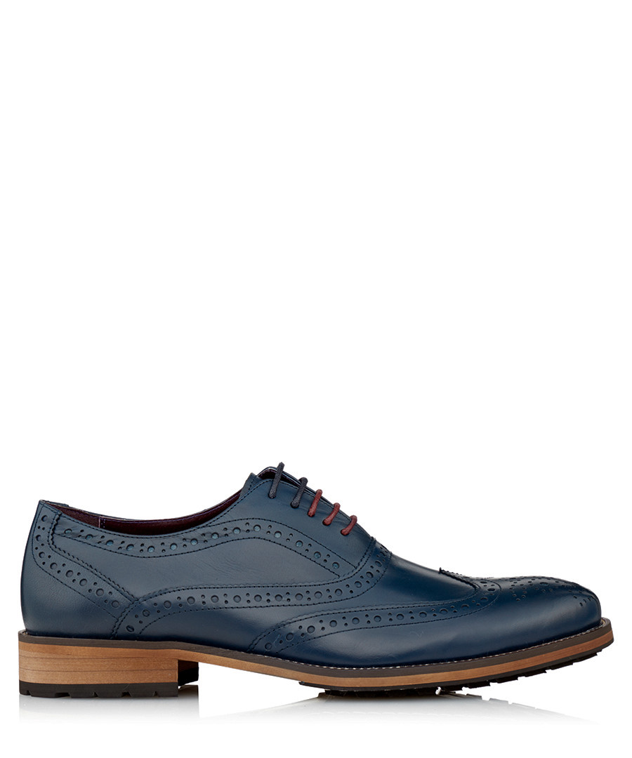 Oliver navy leather brogues Sale - JUSTIN REECE