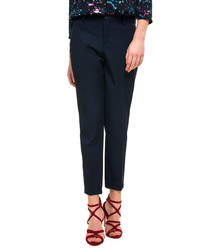Noelle navy cropped trousers