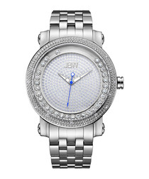 Hendrix stainless steel & diamond watch