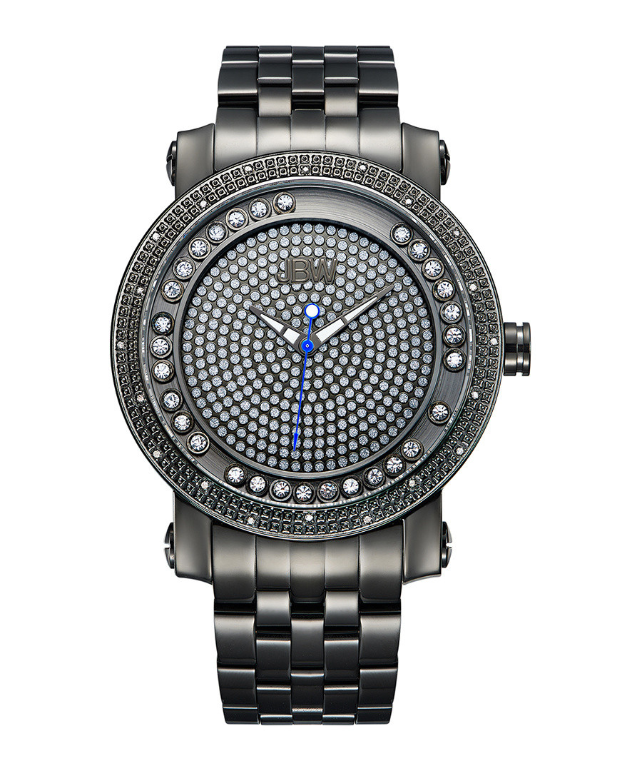Hendrix gunmetal & diamond watch Sale - jbw