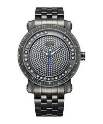 Hendrix gunmetal & diamond watch