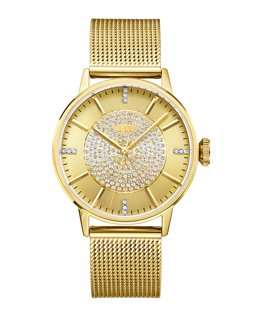 Belle 18k gold-plated diamond watch Sale - jbw