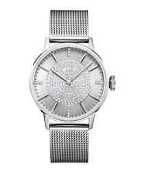 Belle silver-tone diamond watch