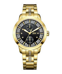Lumen 18k gold-plated diamond watch
