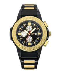 Saxon black & diamond dial watch