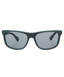 Plaque brushed grey sunglasses
