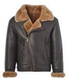 Brown & ginger sheepskin aviator jacket
