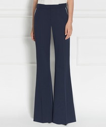 Blue flared trousers