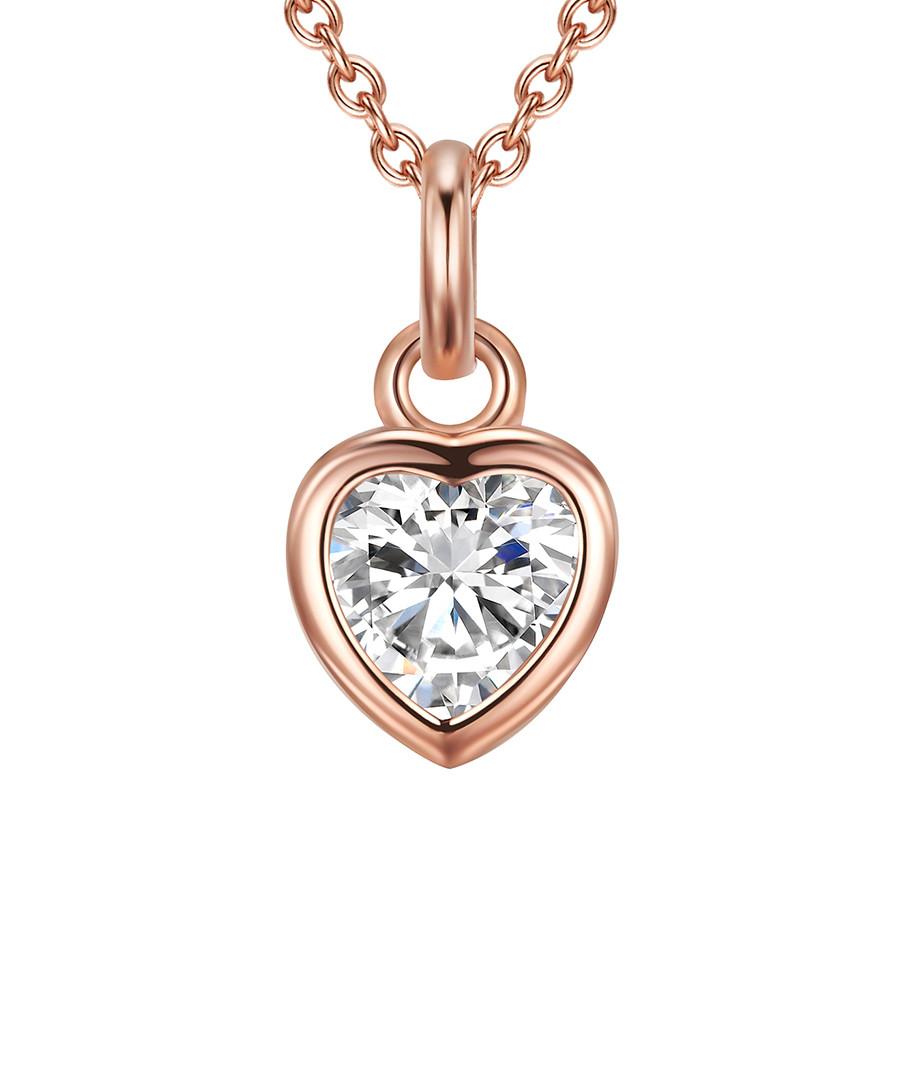 Rose gold-plated heart pendant necklace Sale - carat 1934