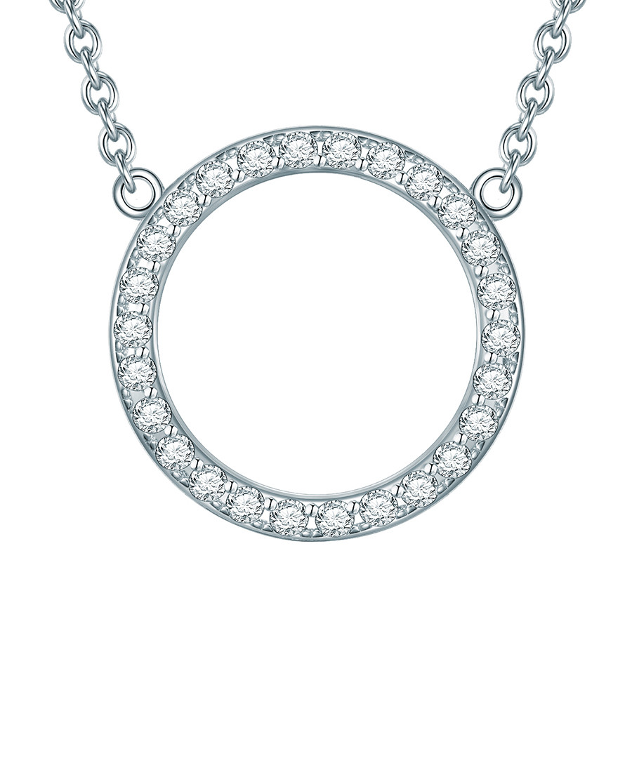 Sterling silver circle crystal necklace Sale - carat 1934