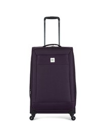 Nexus purple spinner suitcase 67cm