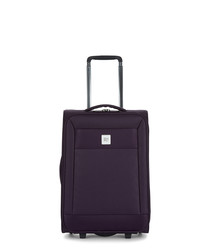 Nexus purple upright suitcase 55cm