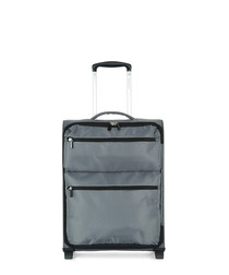 Weightless grey upright suitcase 55cm