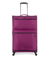 Weightless purple upright suitcase 77cm