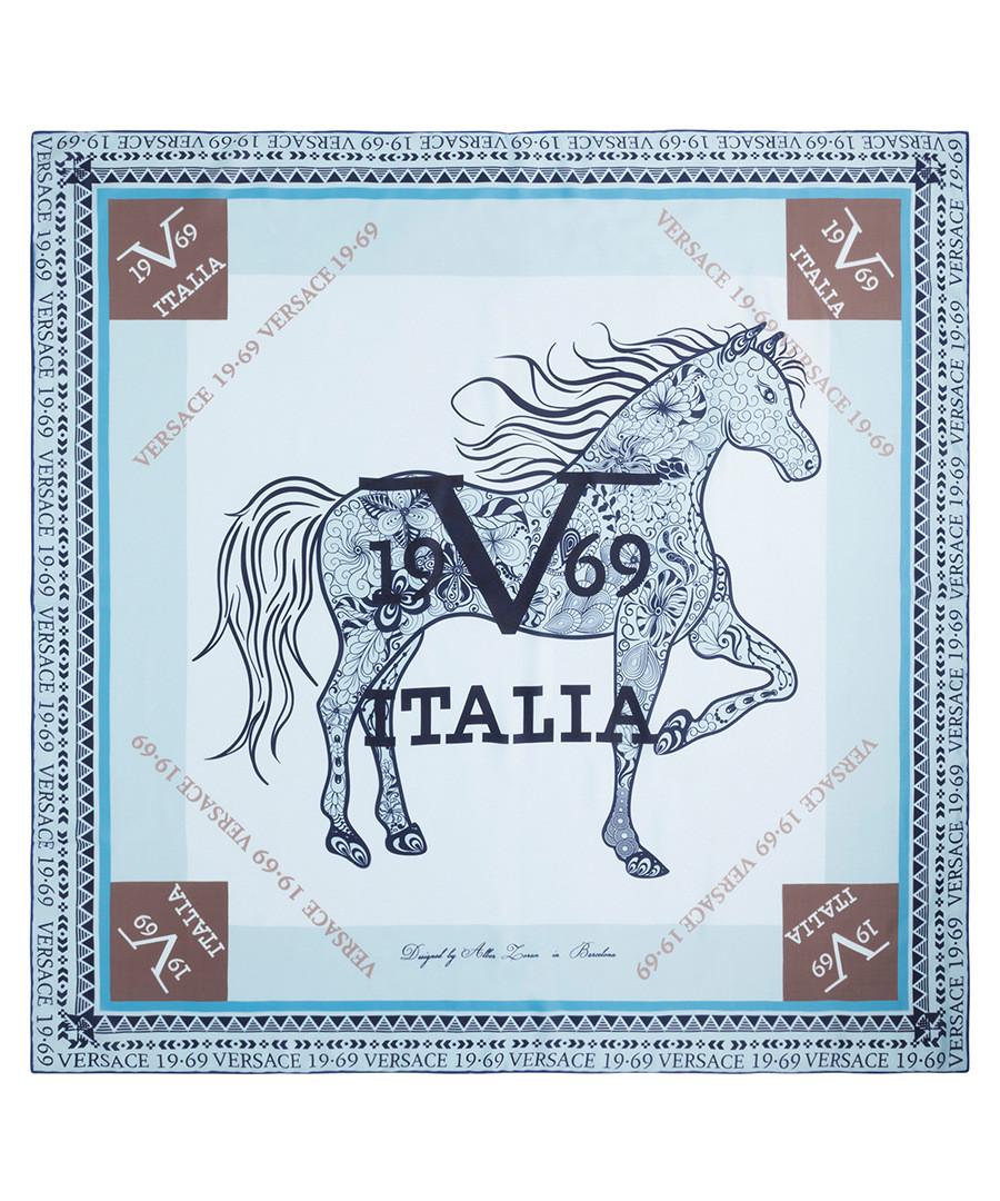 Amazona baby blue   navy scarf Sale - Versace 1969 ... 3d8f2856f09