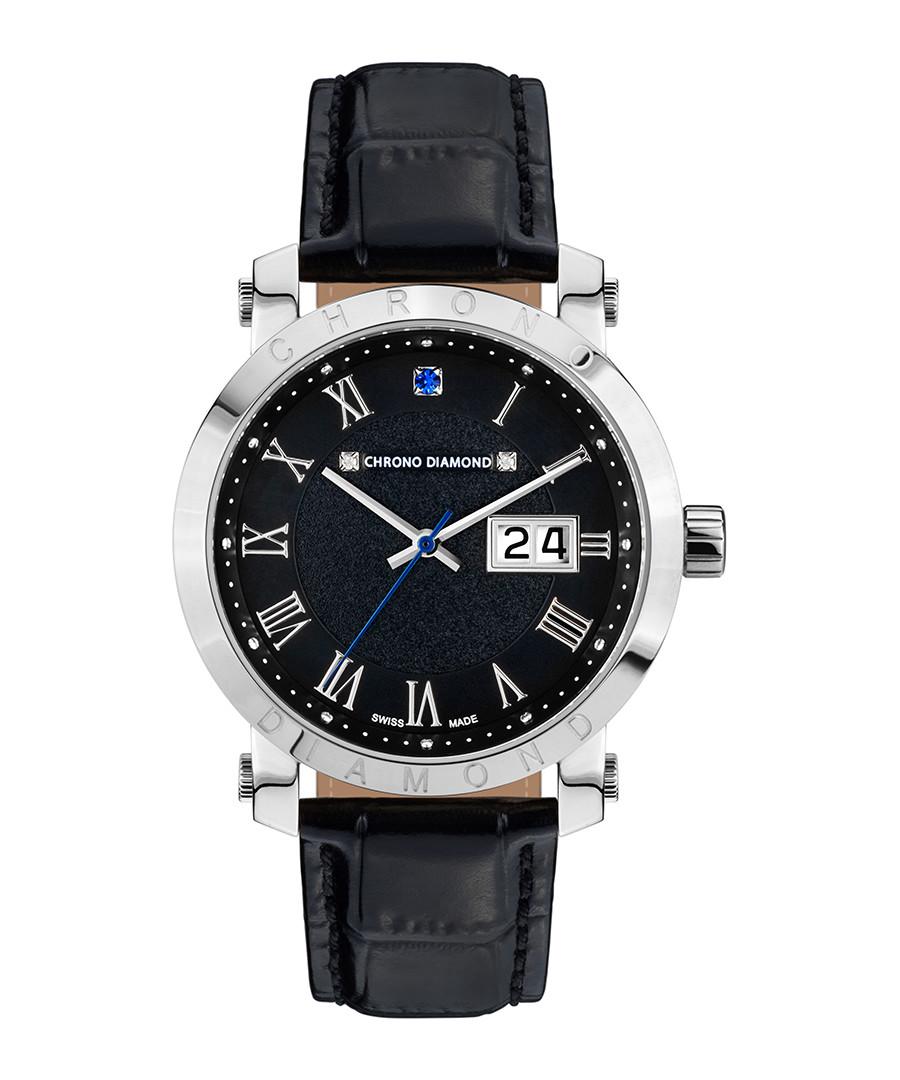 Nestorius leather-strap & diamond watch  Sale - chrono diamond
