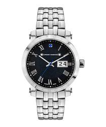 Nestorius stainless steel diamond watch
