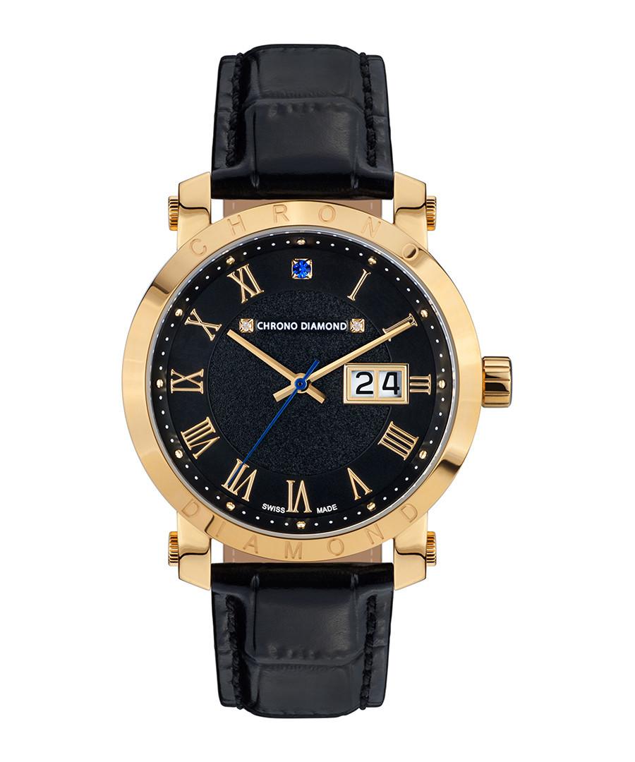 Nestorius gold-tone diamond watch Sale - chrono diamond