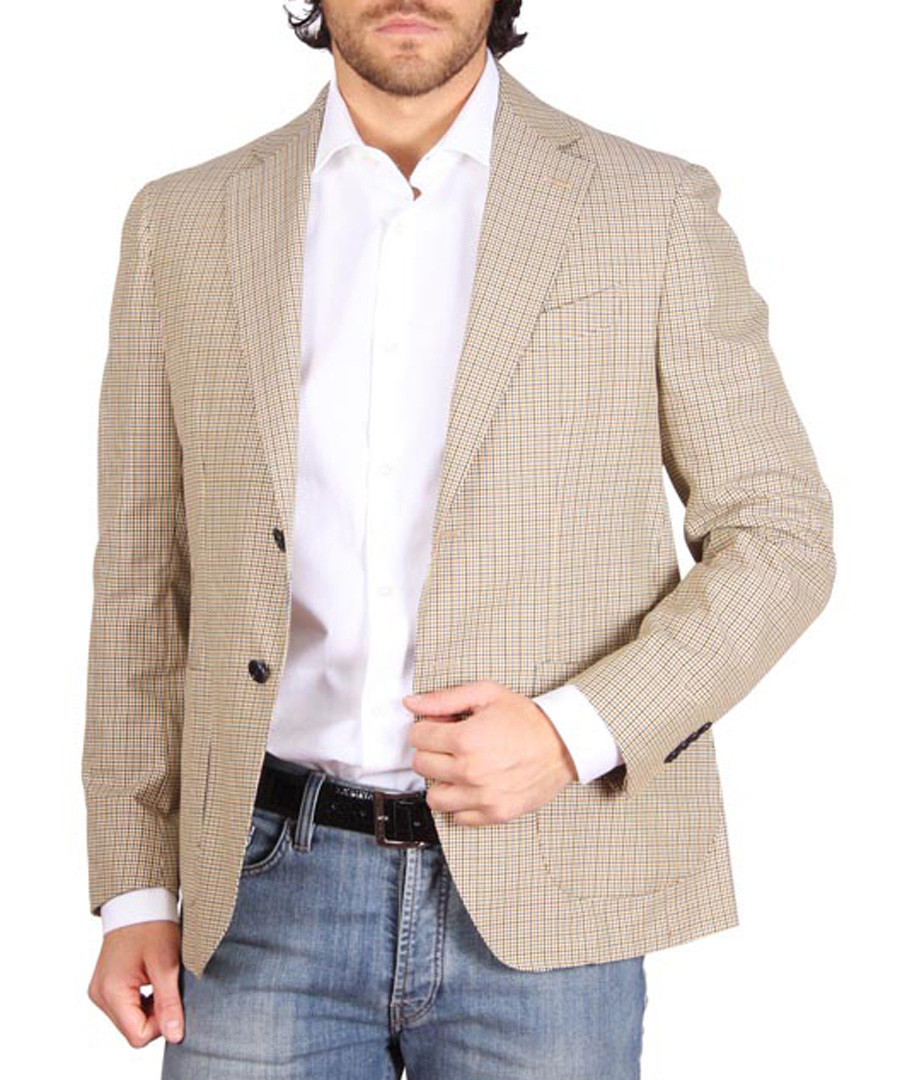 Light brown checked blazer Sale - versace 1969 abbigliamento sportivo srl