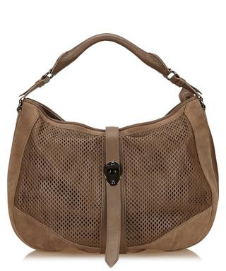 bbf0a245233a Brown suede mesh shoulder bag Sale - Vintage Burberry Sale