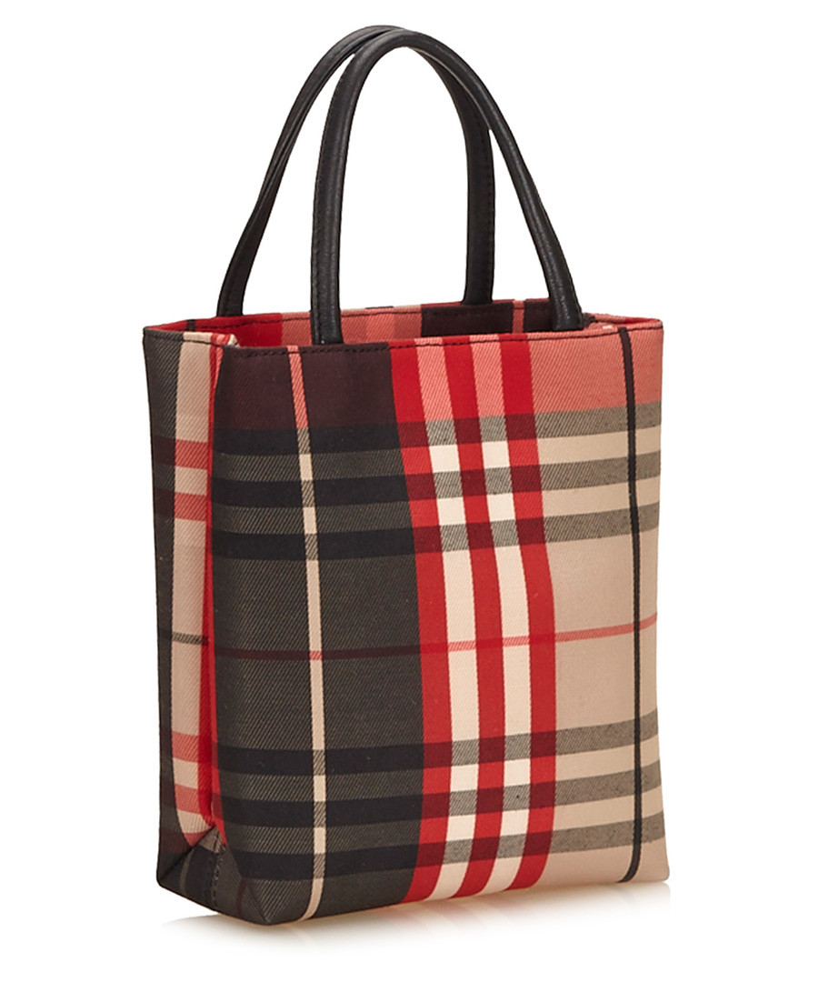 2d7973b7ae ... Red & black nylon plaid shoulder bag Sale - Vintage Burberry ...