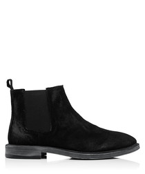 Hadleigh black suede ankle boots