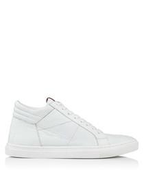 Men's Hoddesdon white leather sneakers
