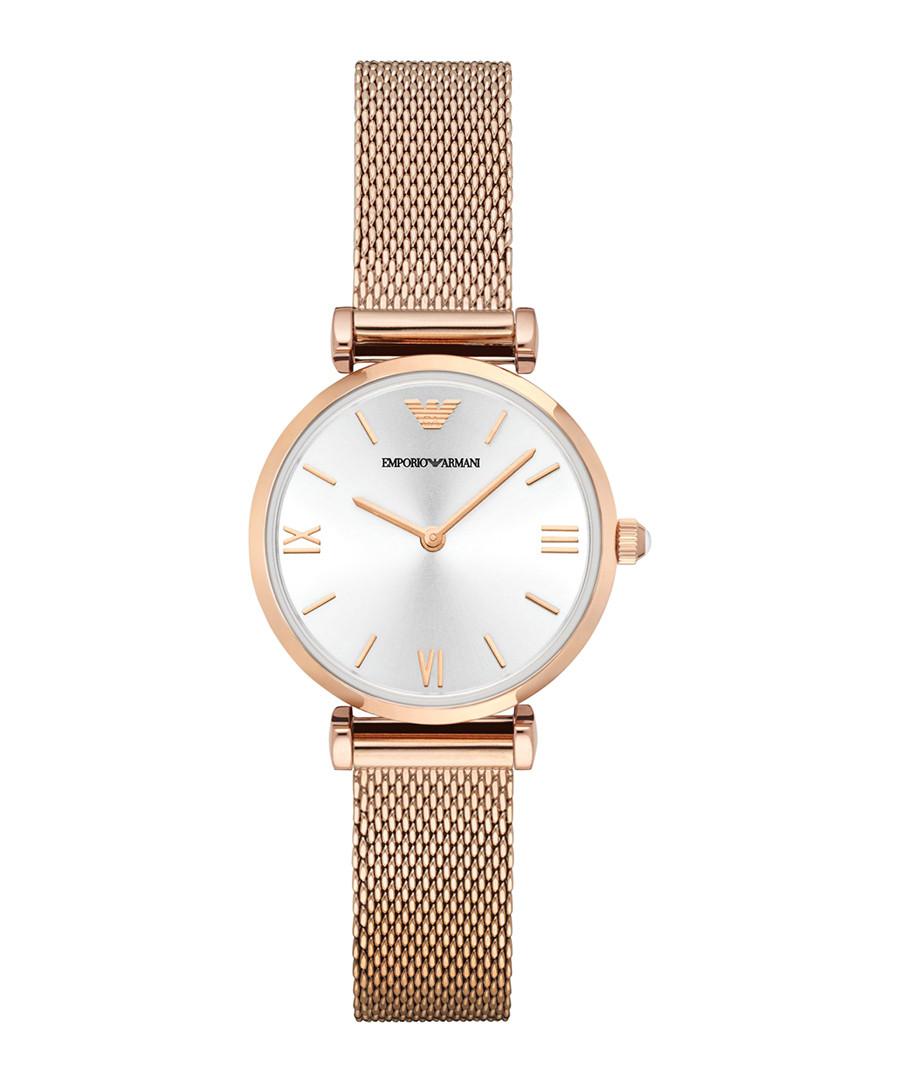 Rose gold-tone mesh bracelet watch Sale - Emporio Armani