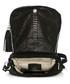Black moc-croc leather crossbody Sale - anna morellini Sale