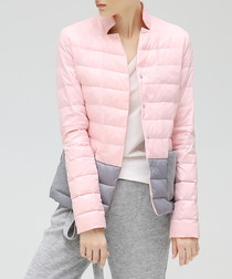 Pink & grey padded jacket