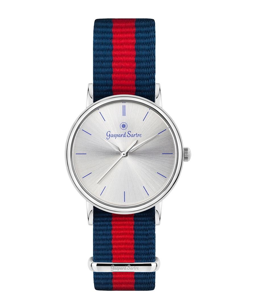 La Variée steel & striped watch Sale - gaspard sartre