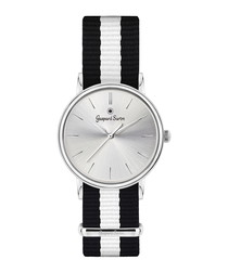 L'Imposante black & white striped watch