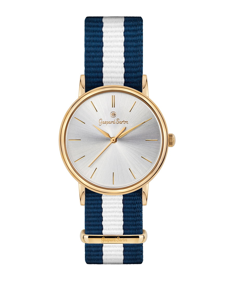 L' Imposante gold-tone & navy watch Sale - gaspard sartre