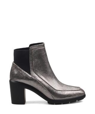 Gunmetal leather chunky ankle boots Sale - Jady Rose Sale 082eae8dd49df