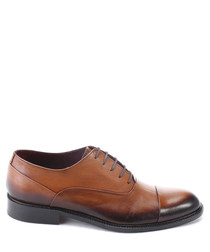 Beige leather ombre Oxford shoes
